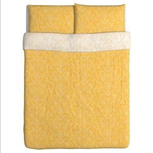 Other - Full yellow duvet cover and two pillowcases